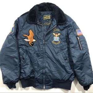 Vintage Vermont Air Force Bomber Jacket